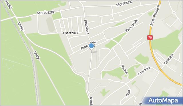 Jaworzno, Piaskowa, mapa Jaworzno