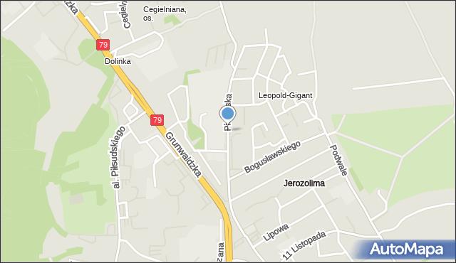 Jaworzno, Piekarska, mapa Jaworzno