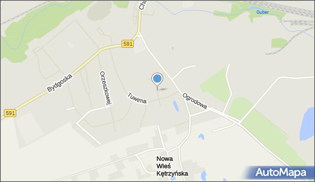 Kętrzyn, Pieniężnego Seweryna, mapa Kętrzyn