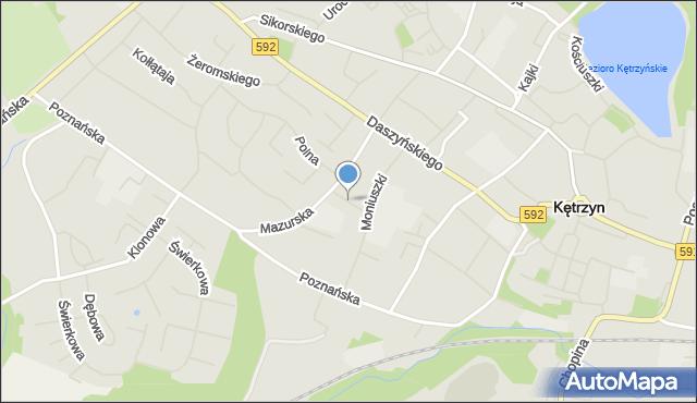 Kętrzyn, Pionierska, mapa Kętrzyn