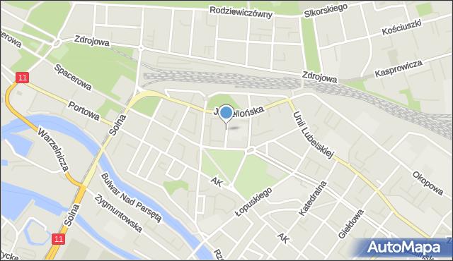 Kołobrzeg, Piastowska, mapa Kołobrzegu