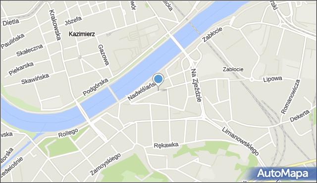 Kraków, Piwna, mapa Krakowa