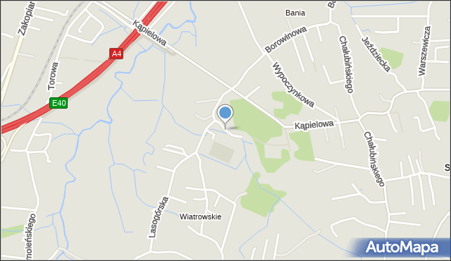 Kraków, Piłkarska, mapa Krakowa