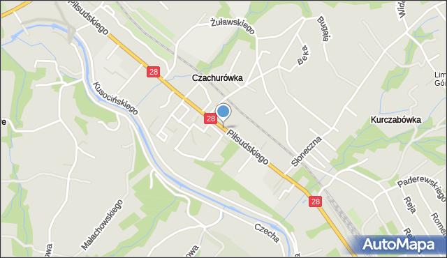 Limanowa, Piłsudskiego Józefa, marsz., mapa Limanowa