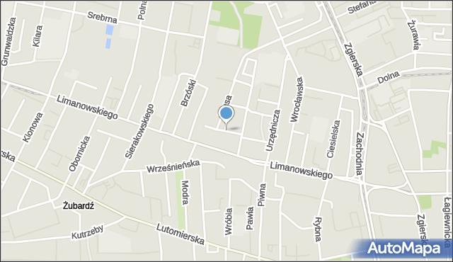Łódź, Piekarska, mapa Łodzi