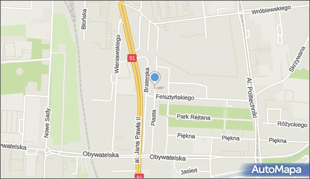 Łódź, Piasta, mapa Łodzi