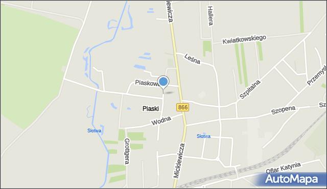 Lubaczów, Piaski, mapa Lubaczów