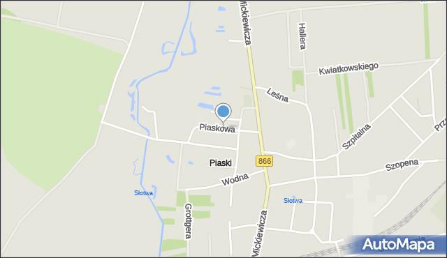 Lubaczów, Piaskowa, mapa Lubaczów