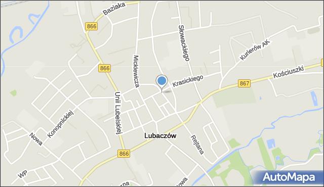 Lubaczów, Piłsudskiego Józefa, marsz., mapa Lubaczów