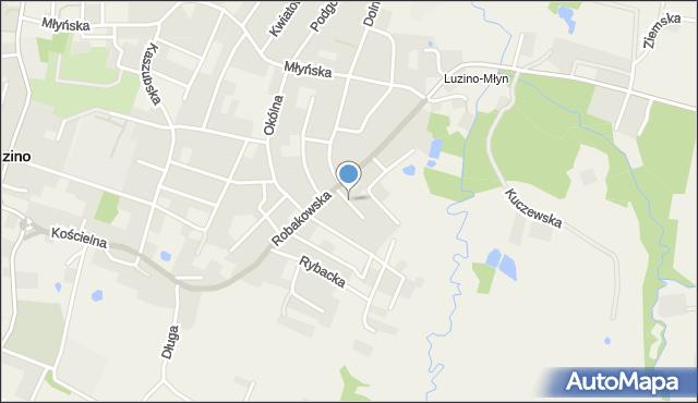 Luzino, Piękna, mapa Luzino