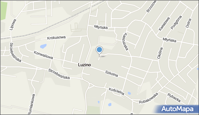 Luzino, Pileckiego Witolda, rtm., mapa Luzino