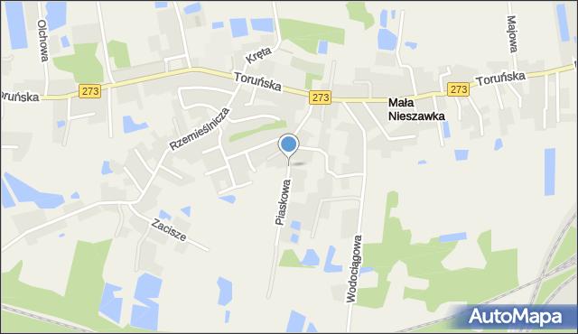 Mała Nieszawka, Piaskowa, mapa Mała Nieszawka