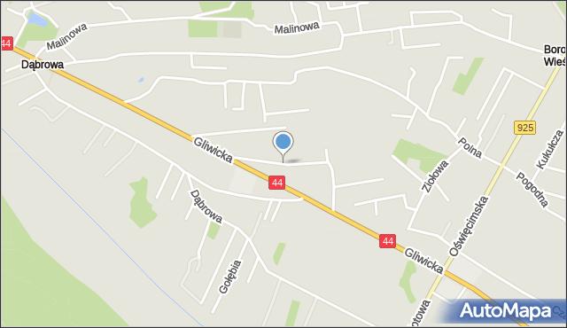 Mikołów, Piwna, mapa Mikołów