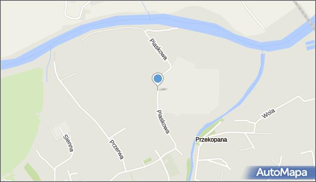 Przemyśl, Piaskowa, mapa Przemyśla