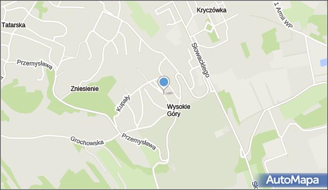 Przemyśl, Piasta Kołodzieja, mapa Przemyśla