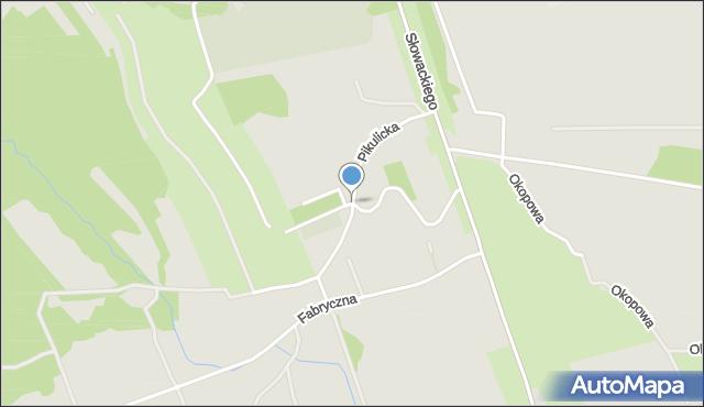 Przemyśl, Pikulicka, mapa Przemyśla