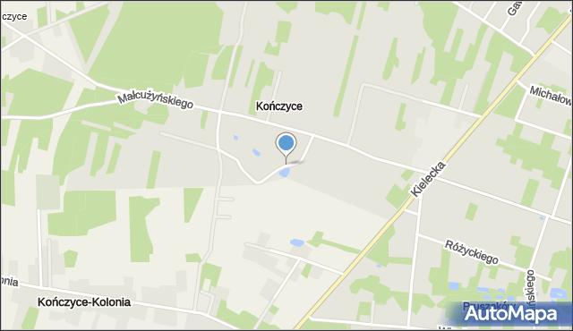 Radom, Pianistów, mapa Radomia