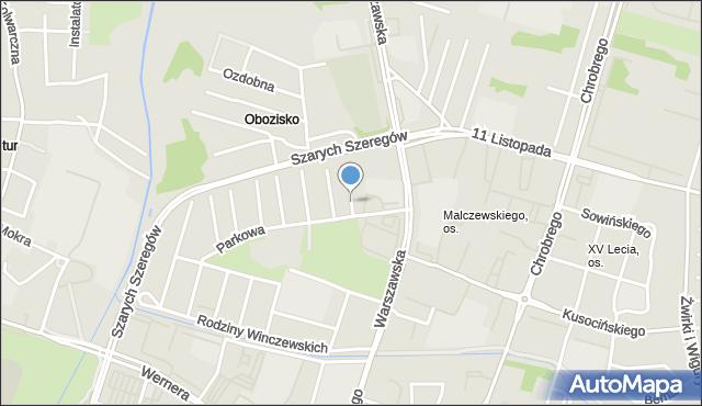 Radom, Piaskowa, mapa Radomia