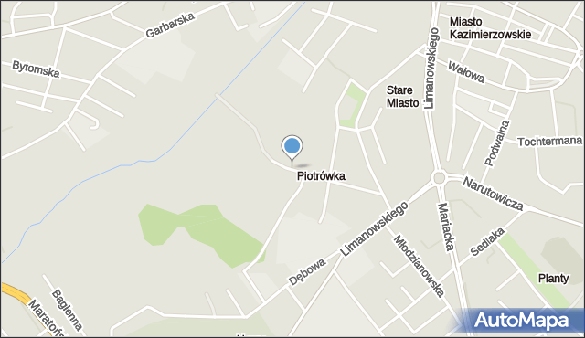 Radom, Piotrówka, mapa Radomia