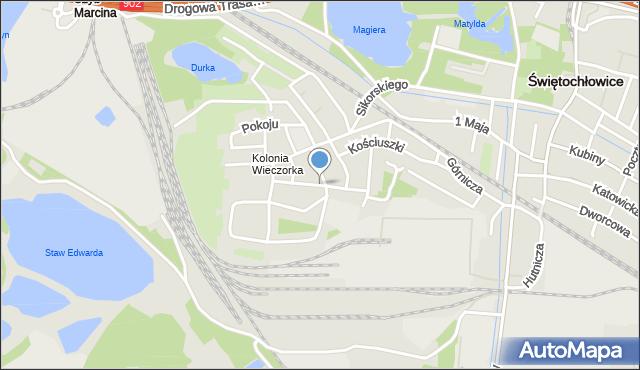 Świętochłowice, Piastowska, mapa Świętochłowice