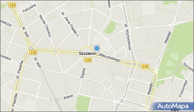 Szczecin, Piłsudskiego Józefa, marsz., mapa Szczecina