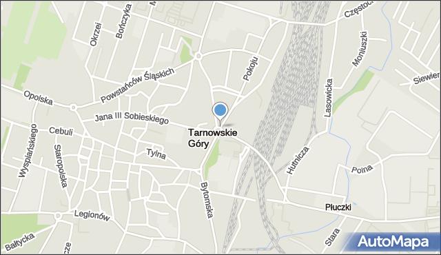 Tarnowskie Góry, Piłsudskiego Józefa, marsz., mapa Tarnowskie Góry