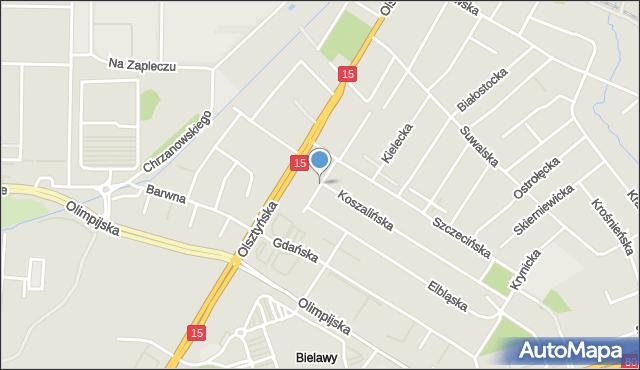 Toruń, Pilska, mapa Torunia