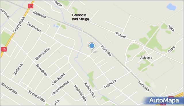 Toruń, Piotrkowska, mapa Torunia