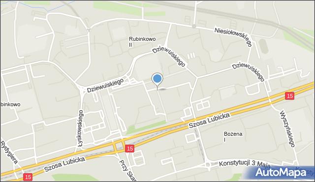 Toruń, Piskorskiej Heleny, mapa Torunia
