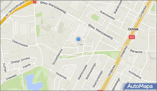 Warszawa, Piotrkowska, mapa Warszawy