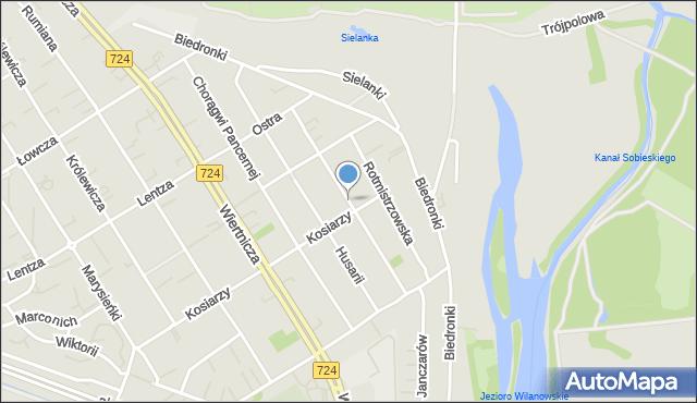 Warszawa, Piechoty Łanowej, mapa Warszawy