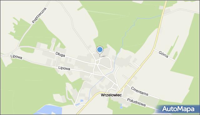 Wrzelowiec, Piaskowa, mapa Wrzelowiec