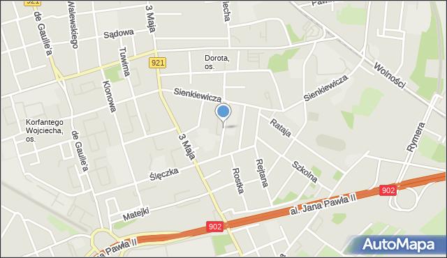 Zabrze, Pileckiego Witolda, rtm., mapa Zabrza