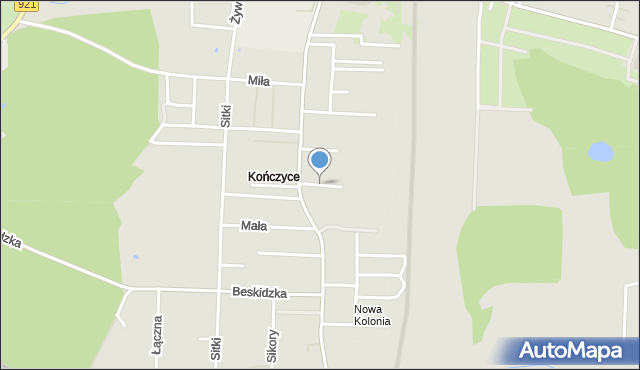 Zabrze, Piusa, mapa Zabrza