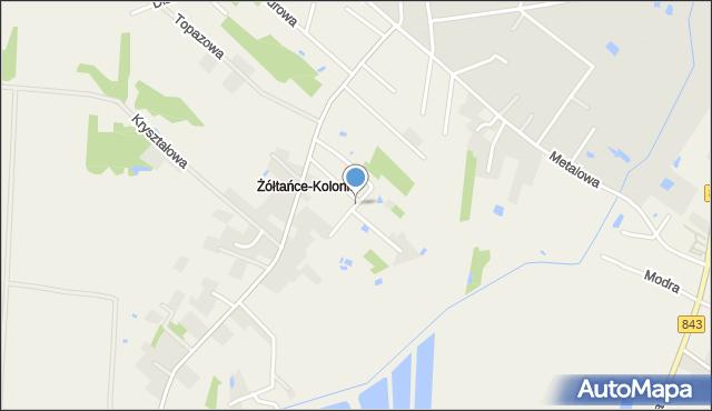 Żółtańce-Kolonia, Piaskowa, mapa Żółtańce-Kolonia