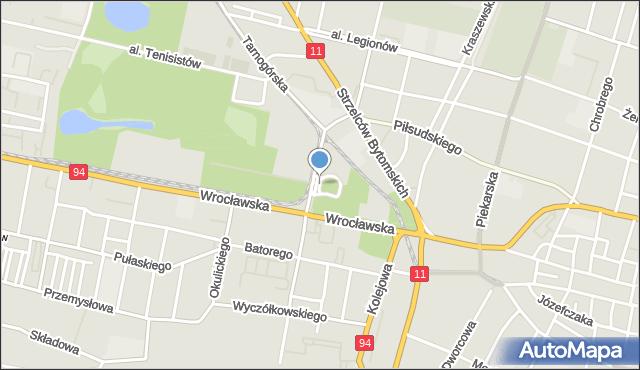 Bytom, Plac Bruninga Georga, mapa Bytomia