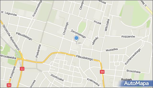 Bytom, Plac Hiolskiego Andrzeja, mapa Bytomia