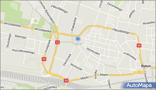 Bytom, Plac Kościuszki Tadeusza, gen., mapa Bytomia