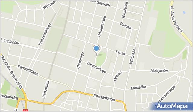 Bytom, Plac Akademicki, mapa Bytomia
