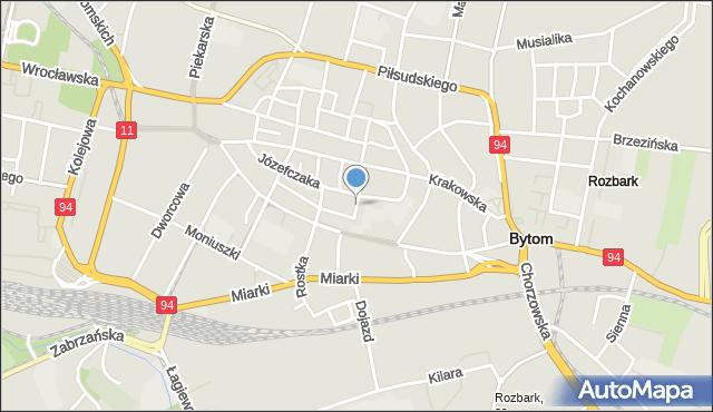 Bytom, Plac Klasztorny, mapa Bytomia