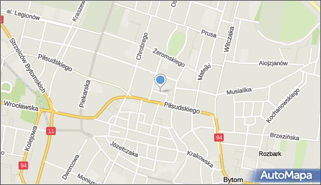 Bytom, Plac Króla Jana III Sobieskiego, mapa Bytomia