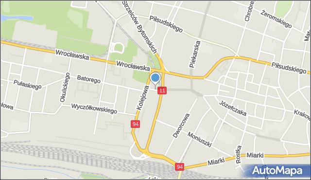 Bytom, Plac Kruczkowskiego Kazimierza, mapa Bytomia