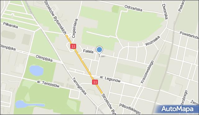 Bytom, Plac Rodła, mapa Bytomia