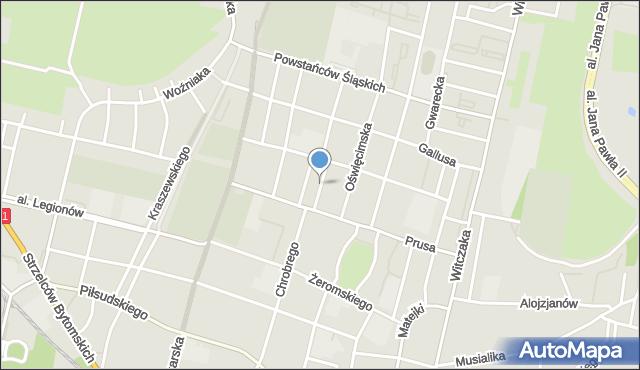Bytom, Plac Słowiański, mapa Bytomia