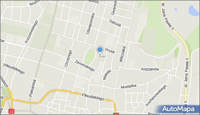 Bytom, Plac Stanek Karin, mapa Bytomia