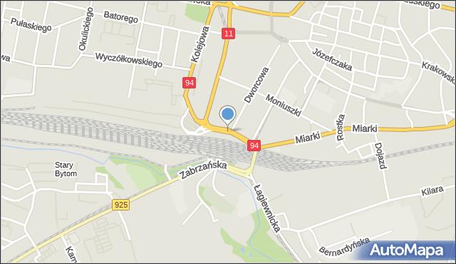 Bytom, Plac Wolskiego Michała, mapa Bytomia