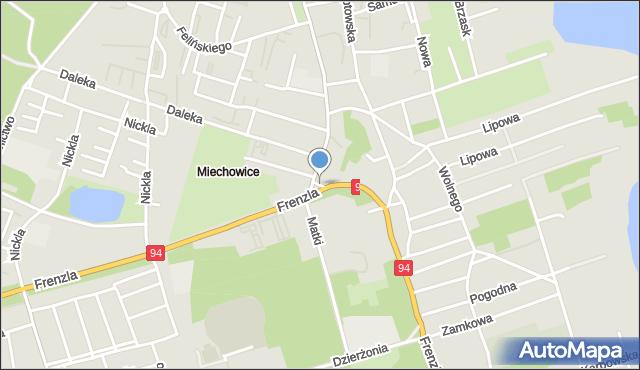 Bytom, Plac Szpitalny, mapa Bytomia