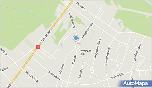 Bytom, Plac Jana, mapa Bytomia