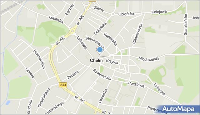 Chełm, Plac Gdański, mapa Chełma