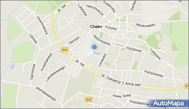 Chełm, Plac Kupiecki, mapa Chełma
